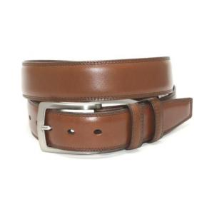 Torino Leather Burnished Veal Belt Saddle Image