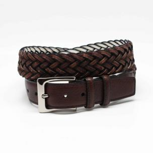 Torino Leather Cork & Rayon Belt Brown / Black Image