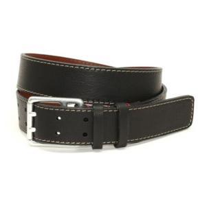 Torino Leather Deertan Side Leather Belt Black Image