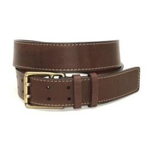 Torino Leather Deertan Side Leather Belt Brown Image