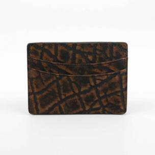 Torino Leather Elephant Card Case Cognac Image