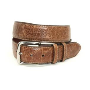 Torino Leather Elephant Embossed Calfskin Belt Saddle Image