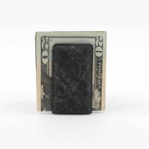 Torino Leather Elephant Skin Money Clip Charcoal Image