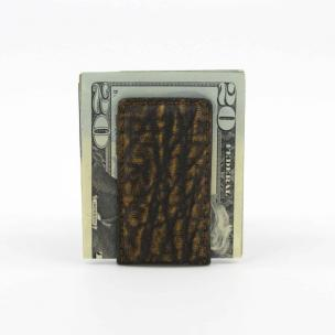 Torino Leather Elephant Skin Money Clip Cognac Image