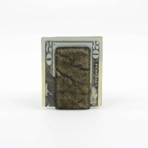 Torino Leather Elephant Skin Money Clip Olive Image