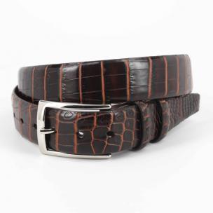 Torino Leather Nile Crocodile Belt Brown / Cognac Image