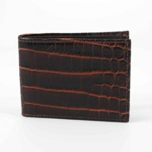 Torino Leather Nile Crocodile Billfold Wallet Brown / Cognac Image