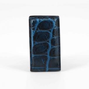 Torino Leather Nile Crocodile Money Clip Navy / Blue Image