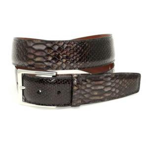 Torino Leather Python Embossed Calf Belt Brown Image
