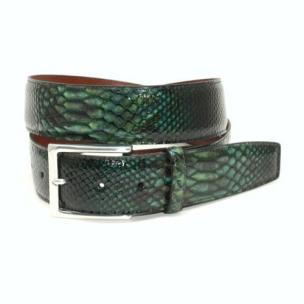 Torino Leather Python Embossed Calf Belt Green Image