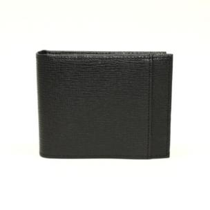 Torino Leather Saffiano Calfskin Billfold Wallet Black Image