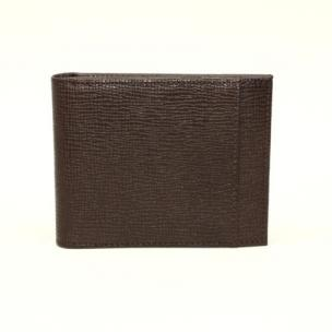 Torino Leather Saffiano Calfskin Billfold Wallet Brown Image