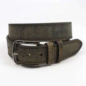 Torino Leather Sanded Cowhide Belt Moss Image