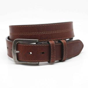 Torino Leather Shrunken Leather Belt Brown Image