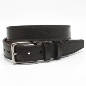 Torino Leather Soft Pebble Grain Belt Brown Image