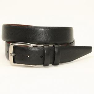 Torino Leather Soft Pebble Grain Calf Belt Black Image