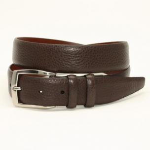 Torino Leather Big & Tall Soft Pebble Grain Calf Belt Brown Image