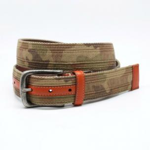Torino Leather Tri Layer Camoflague Belt Desert Image