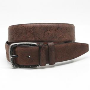 Torino Leather Vintage Cowhide Belt Brown Image