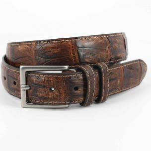 Torino Leather Vintage South American Caiman Belt Cognac Image