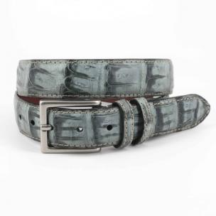 Torino Leather Vintage South American Caiman Belt Gray Image