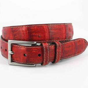 Torino Leather Vintage South American Caiman Belt Red Image