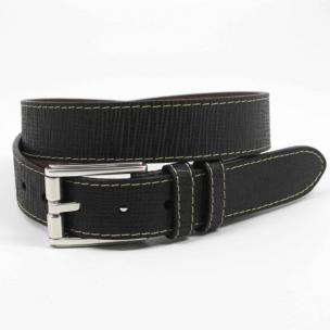 Torino Leather Woven Embossed Calfskin Black Image