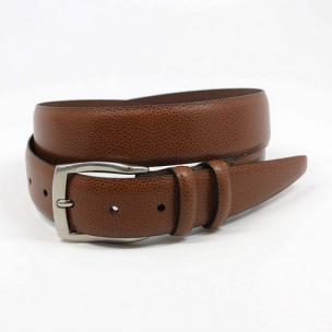 Torino Leather Soft Pebble Grain Calf Belt Cognac Image