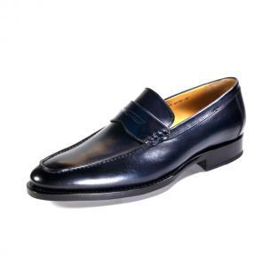Ugo Vasare Albert Apron Toe Shoes Navy Image