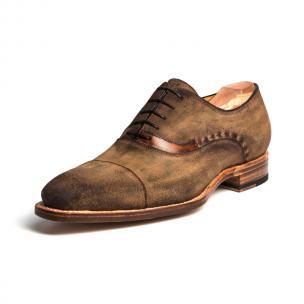 Ugo Vasare Jay Suede Cap Toe Oxfords Brown Image