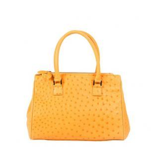 Zelli Bella Genuine Ostrich Handbag Buttercup Image