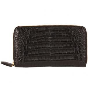 Zelli Camilla Genuine Crocodile Wallet Black Image