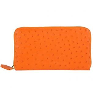 Zelli Camilla Genuine Ostrich Wallet Orange Image