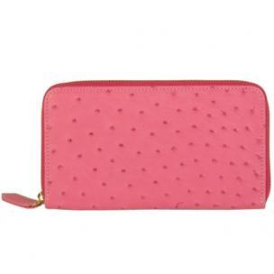 Zelli Camilla Genuine Ostrich Wallet Pink Image