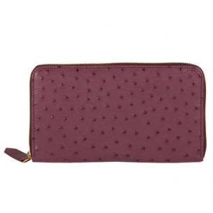 Zelli Camilla Genuine Ostrich Wallet Purple Image