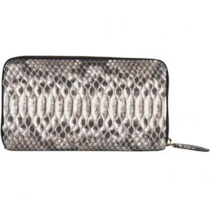 Zelli Camilla Genuine Python Wallet Black / White Image