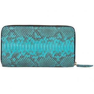 Zelli Camilla Genuine Python Wallet Turquoise Image