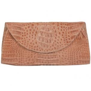 Zelli Capri Genuine Crocodile Clutch Natural Image