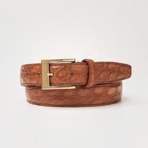 Zelli Crocodile Glove Leather Belt Image