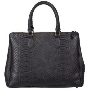 Zelli Daniella Genuine Python Handbag Black Image