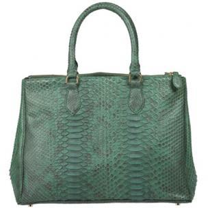 Zelli Daniella Genuine Python Handbag Forest Green Image