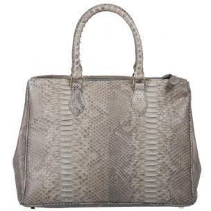 Zelli Daniella Genuine Python Handbag Natural Image