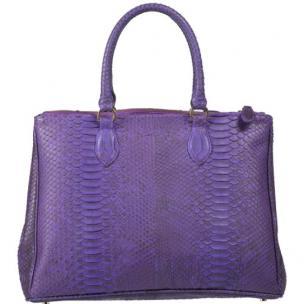 Zelli Daniella Genuine Python Handbag Purple Image