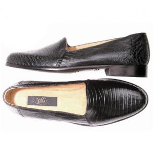 "Zelli Encore ""L"" Genuine Lizard Slip-On Black Image"