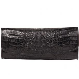 Zelli Florence Genuine Crocodile Clutch Black Image