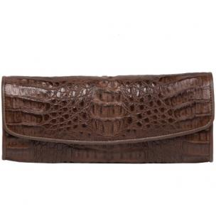 Zelli Florence Genuine Crocodile Clutch Brown Image