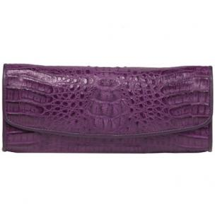 Zelli Florence Genuine Crocodile Clutch Purple Image