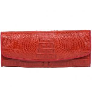 Zelli Florence Genuine Crocodile Clutch Red Image