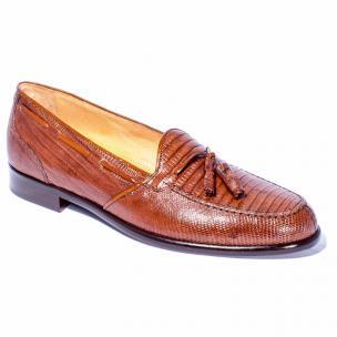 Zelli Franco Lizard Tassel Loafers Cognac Image