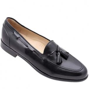 Zelli Greve Nappa Tassel Loafers Black Image